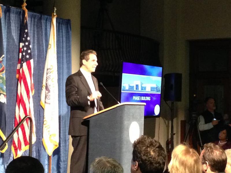Gov. Andrew Cuomo discusses the launch of the nation's first nano film school, which is going to be located in DeWitt.