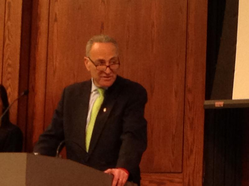 Sen. Charles Schumer (D-NY) during his visit to Syracuse Monday.