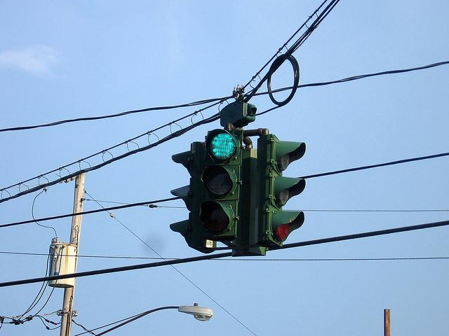 "The ""green on red"" traffic light on Tipperary Hill in Syracuse has become a landmark of Syracuse's Irish culture."