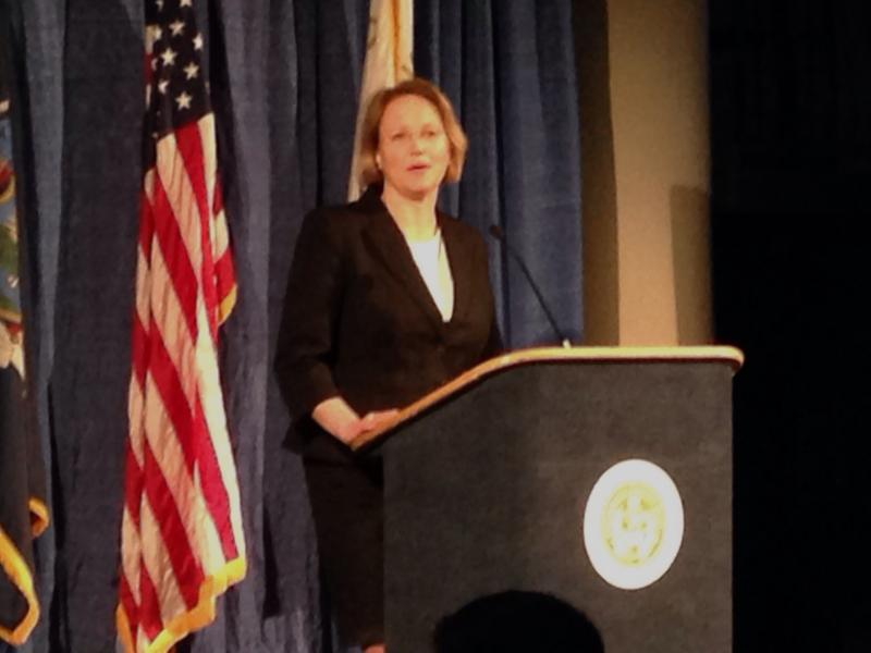 Mahoney at her State of the County Address Tuesday