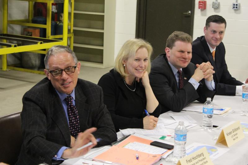 From left: Export-Import Bank Chairman and President Fred Hochberg, Sen. Kirsten Gillibrand (D-NY), Congressman Dan Maffei (D-NY), and Rob Simpson, president of CenterState CEO.