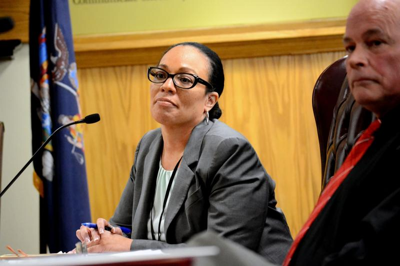 Syracuse school superintendent Sharon Contreras at a school board meeting earlier this month. (file photo)