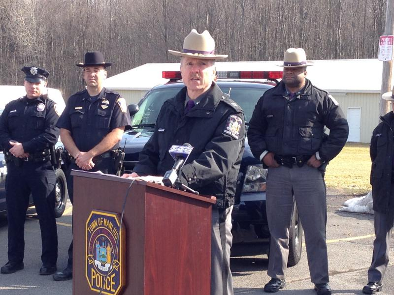 Capt. Jeffrey Raub, with the New York State Police, discusses the importance of reducing incidents involving drivers and school buses.
