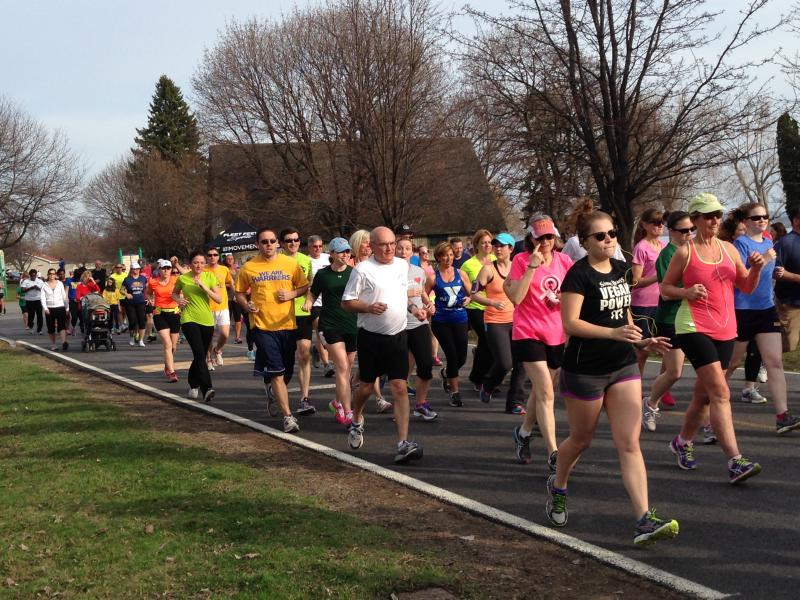 Runners take part in an event at Onondaga lake Park.