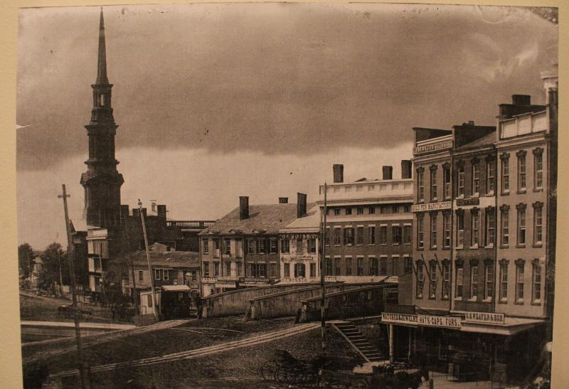 A view of Syracuse in the 1850s.