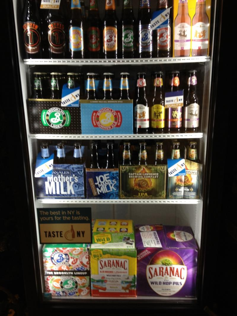 Local beers are displayed during the second wine and beer summit held by Gov. Andrew Cuomo.