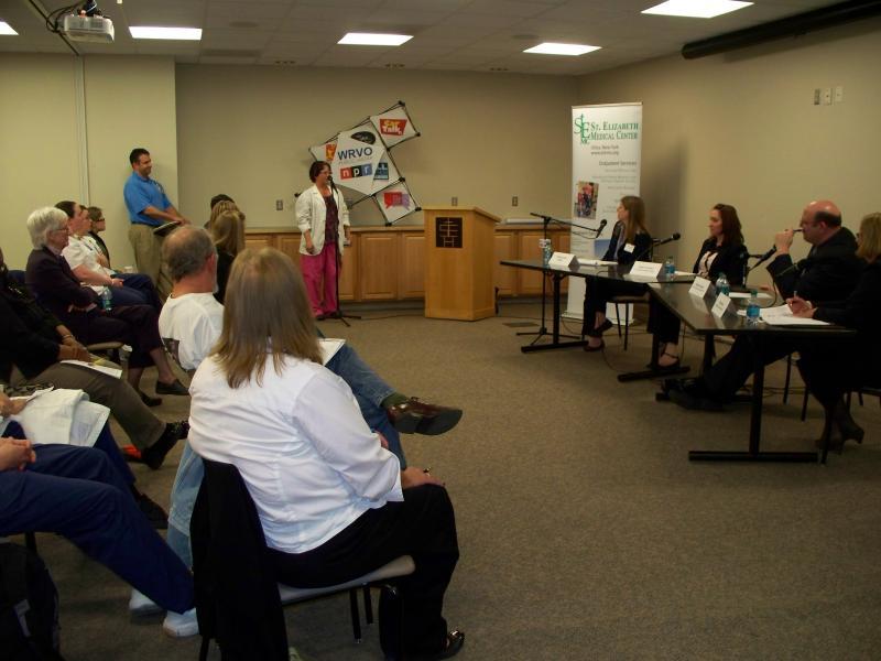 WRVO's community forum on mental health was held at St. Elizabeth's Medical Center in Utica.