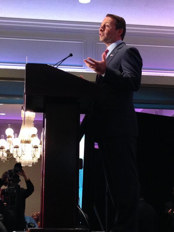 GOP gubernatorial candidate Rob Astorino delivers his acceptance speech.