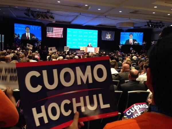 Gov. Andrew Cuomo already accepted the Democratic and Independence Party nominatons earlier this month. (file photo)