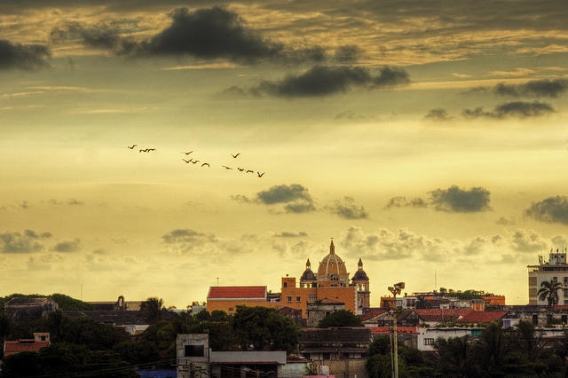 A sunset over Cartagena.