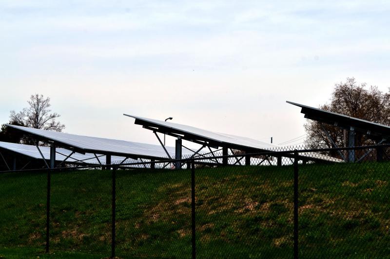 A few of SUNY Cortlands 3,600 new solar panels.