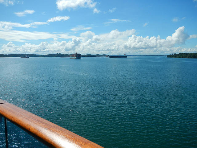 The Panama Canal at Gatun Lake.