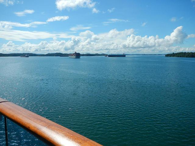 The Panama Canal at Gatun Lake.