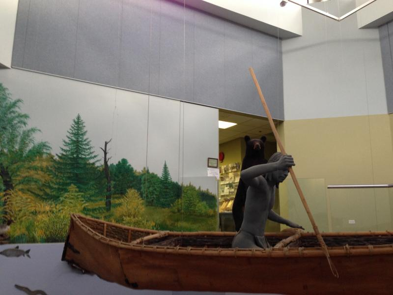A display from the former Sainte Marie among the Iroquois museum.
