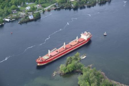 The 656-foot Federal Kivalina blocked traffic on the St. Lawrence Seaway for two days after it ran aground.
