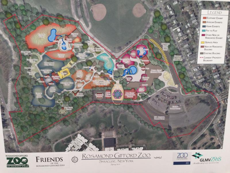 Map of proposed changes at Rosamond Gifford Zoo