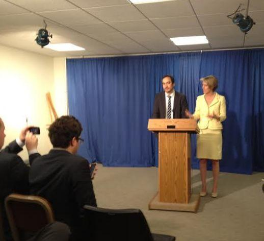 Zephyr Teachout and Timothy Wu announce their intent run a primary race against incumbent Gov. Andrew Cuomo.
