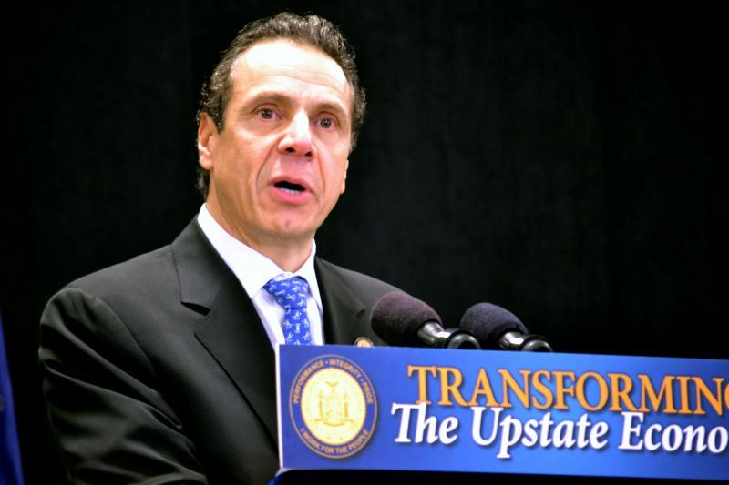 Gov. Andrew Cuomo discusses Onondaga Lake redevelopment in Solvay, N.Y. during an announcement in January. (file photo)