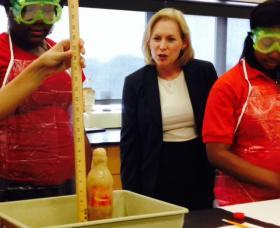 Sen. Kirsten Gillibrand (D-NY) on a recent visit to Rochester STEM High School