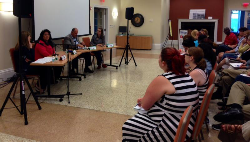Panelists and guests during the WRVO community health forum on the heroin epidemic.