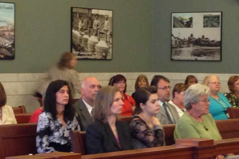 Tyre residents attend Tuesday's Onondaga County Legislature meeting.