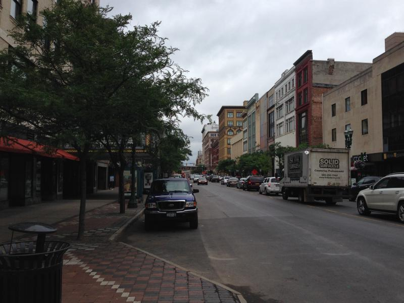 A view of South Salina Street in downtown Syracuse.