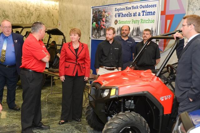 Sen. Patty Ritchie is sponsoring legislation to raise the weight limit on UTVs. Assemblyman Bill Magee (left), is the Assembly sponsor of the bill.
