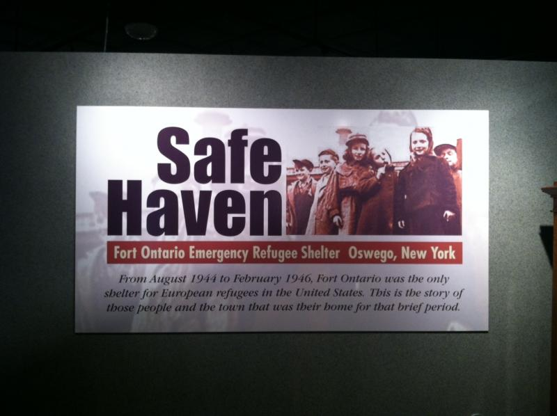 A sign greets visitors to Oswego's Safe Haven Museum.