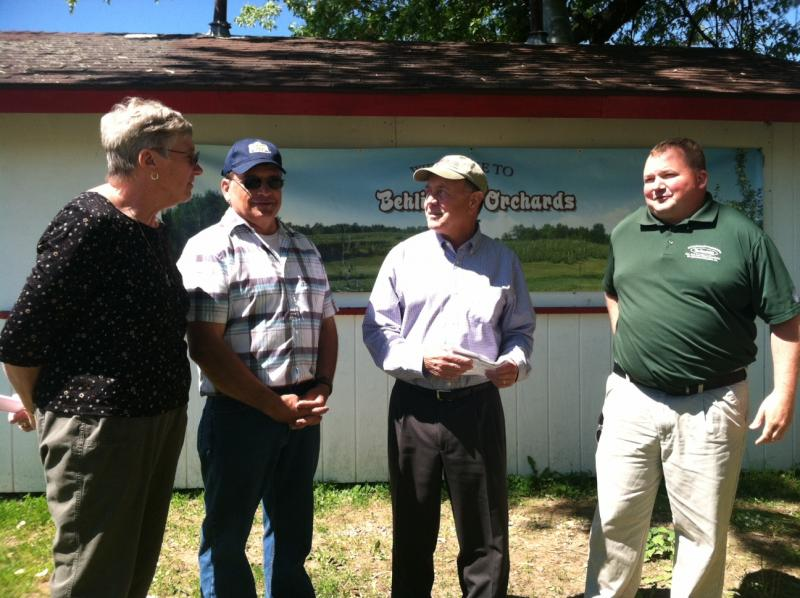 Rep. Richard Hanna meets with members of the Oswego County Farm Bureau, local farmers and other agriculture experts.