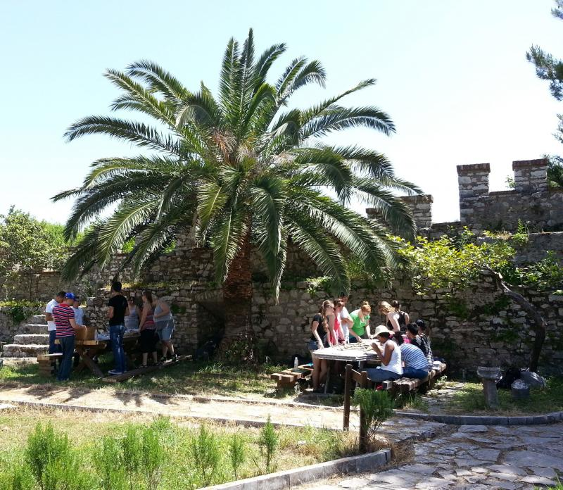 Students take an anthropology field course in Butrint National Park, Albania