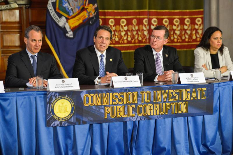 In this undated photo, Gov. Andrew Cuomo discusses the Moreland Act Commission.