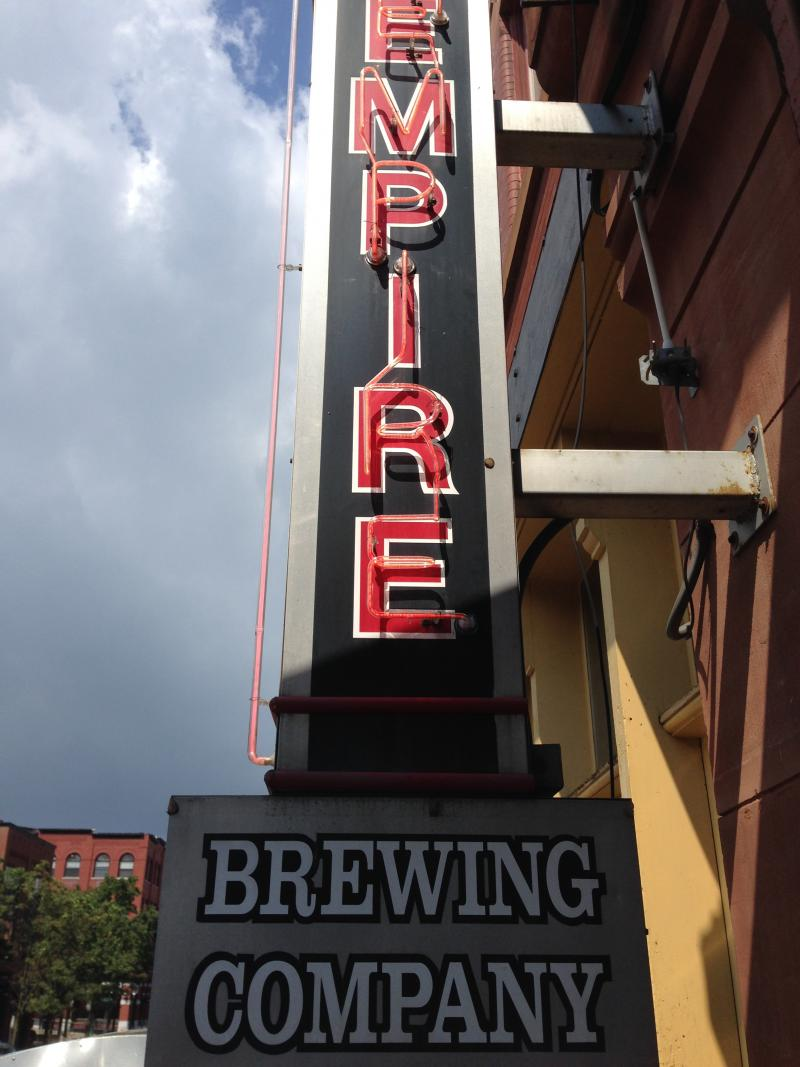 An outside view of Syracuse's Empire Brewing Company.