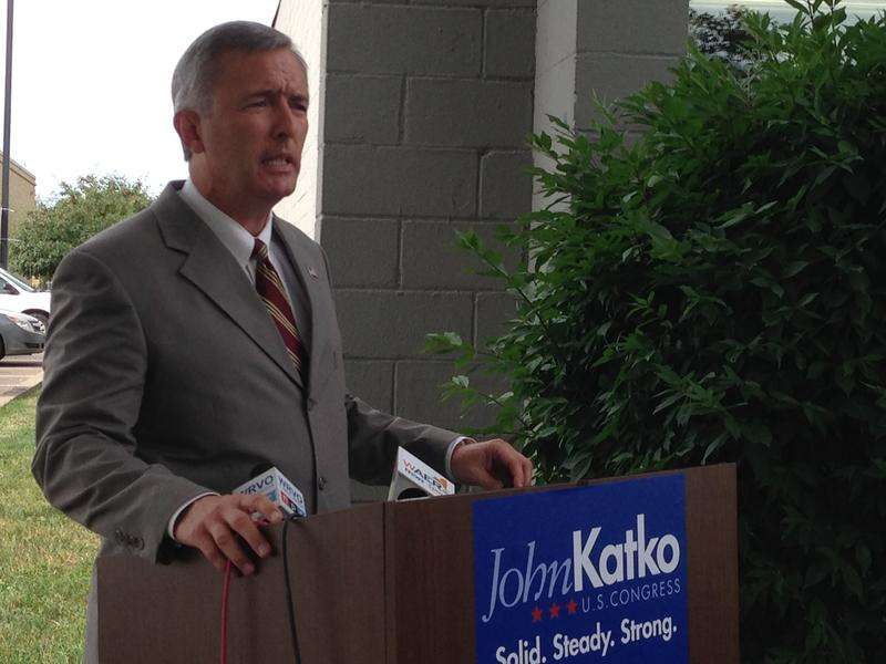 John Katko says the middle class is getting squeezed by high gas prices.