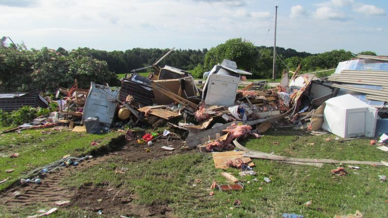 Tornado damage in Smithfield