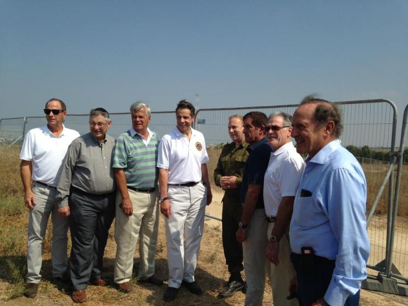 Governor Andrew Cuomo and legislative leaders visit an Iron Dome missile site in Israel