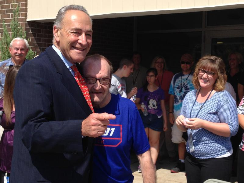 Sen. Charles Schumer was in Syracuse to promote the ABLE Act, which would allow families with disabled family members to save money for things like healthcare and transportation.