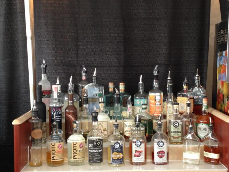 New York liquors, including moonshine, are on display at the New York State Fair.
