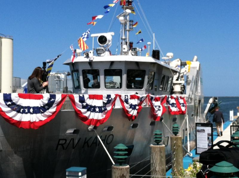 The newly commissioned R/V Kaho will be used for research on Lake Ontario.