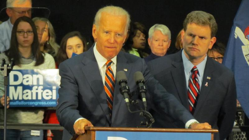 Vice President Joe Biden speaks in support of Democrat Dan Maffei at an event Monday in Syracuse.