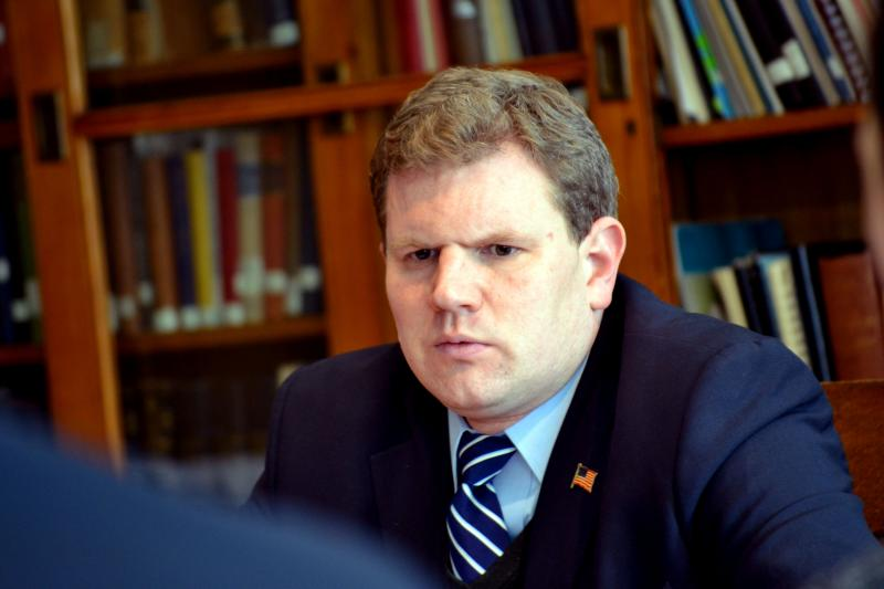 Rep. Dan Maffei, D-Syracuse, at an infrastructure roundtable. (File photo)