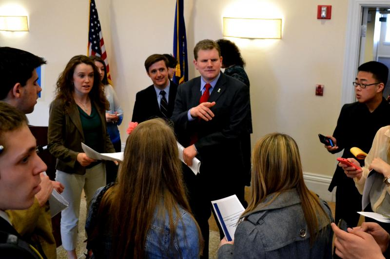 Rep. Dan Maffei, D-Syracuse, speaking with college students. (File photo)