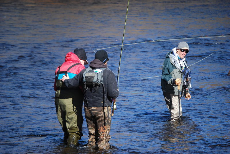 Veterans go fly fishing as part of Operation Healing Waters.