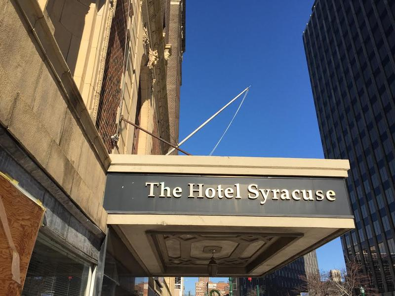 The former Hotel Syracuse, currently under construction, is already booking guests for next year.