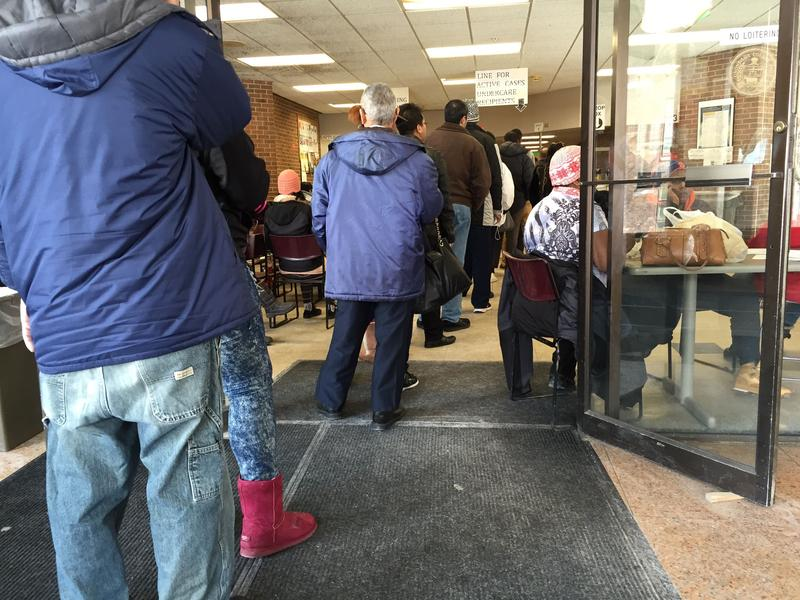 Lines at Onondaga County Department of Social Services.