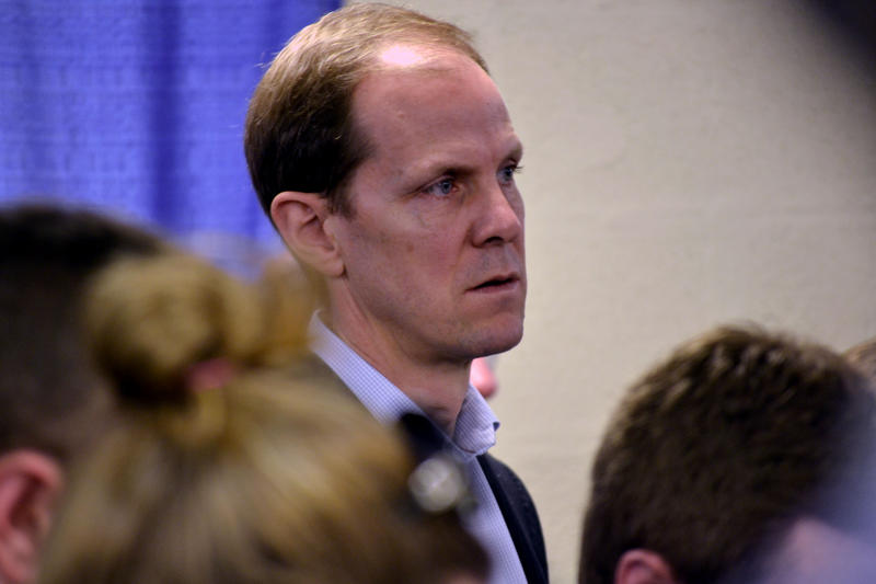 Mike Hopkins during a news conference in 2015 where Syracuse University announced head basketball coach Jim Boeheim would retire after the 2017-2018 season. Hopkins agreed to become the head coach at the University of Washington Sunday.
