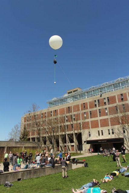 SUNY ESF students launching a high altitude balloon Wednesday