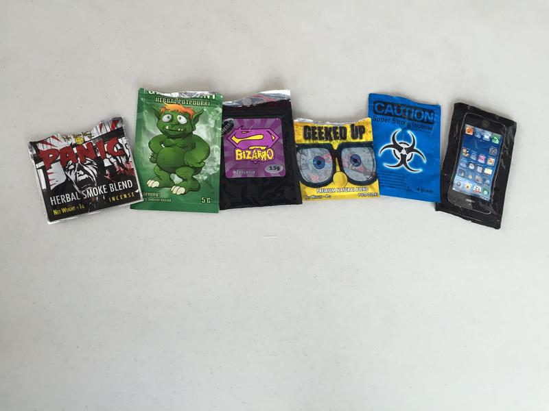Examples of synthetic cannabinoids.