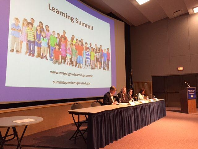 The education summit held in Albany Thursday.