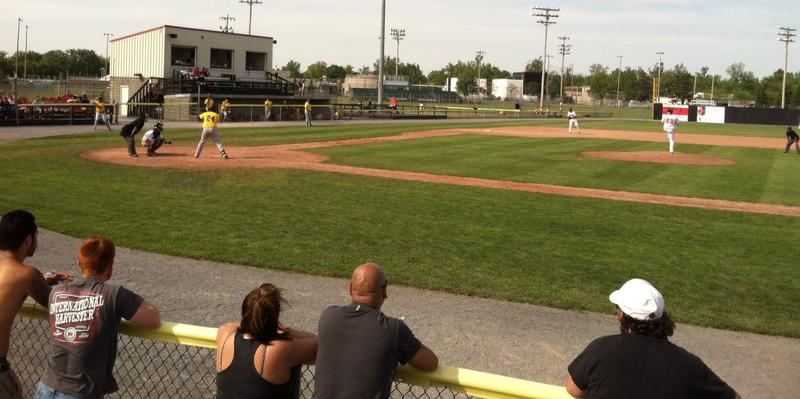 Fans watch the game between the Watertown Bucks and the Road City Explorers.
