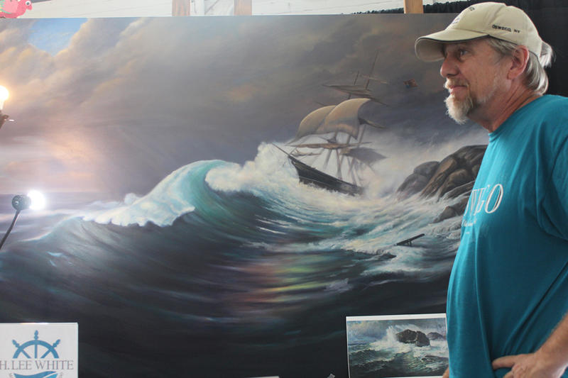 Don Gillespie and his recreated painting.